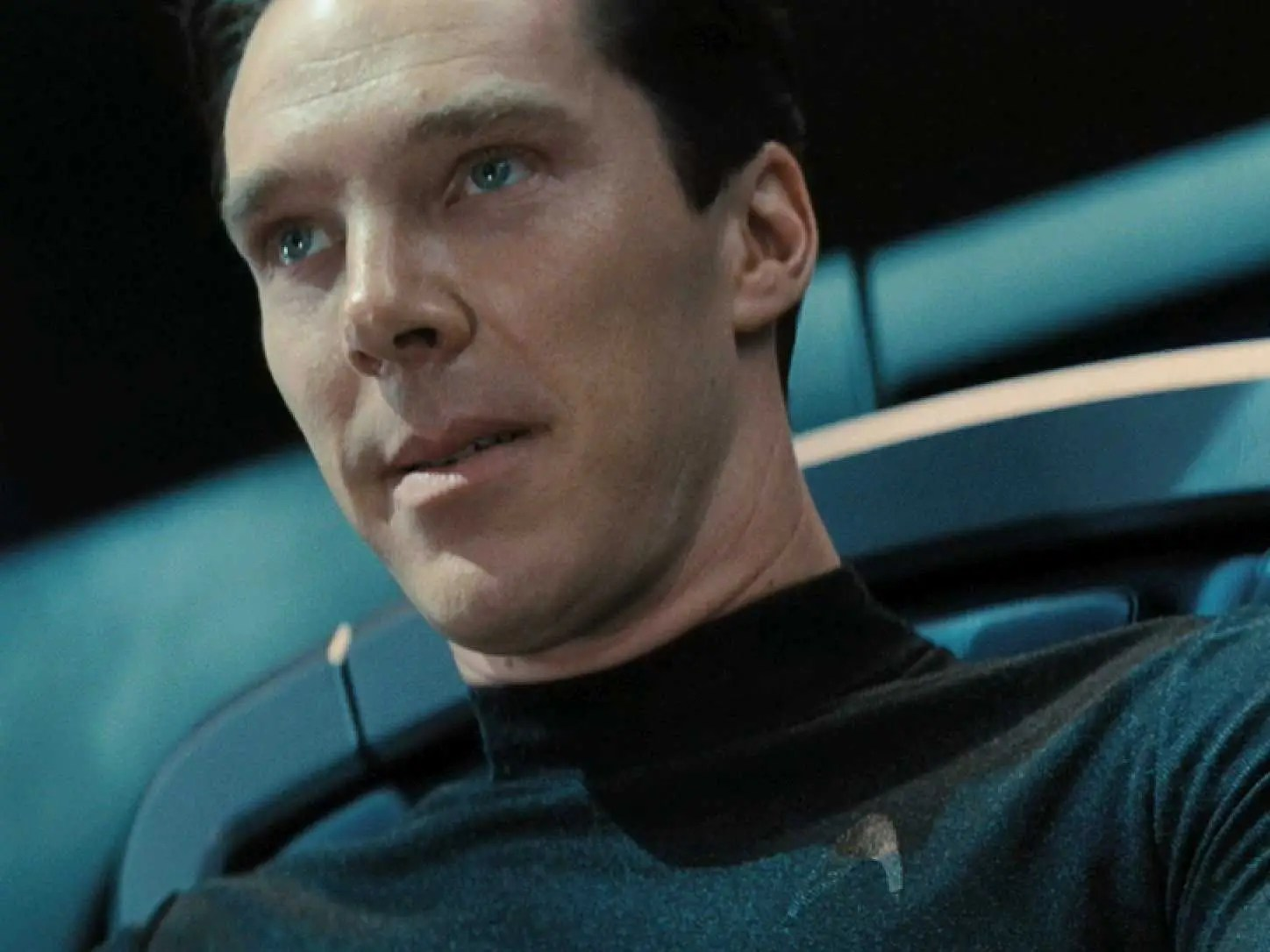 John Harrison (Khan) played by Benedict Cumberbatch in Star Trek Into Darkness