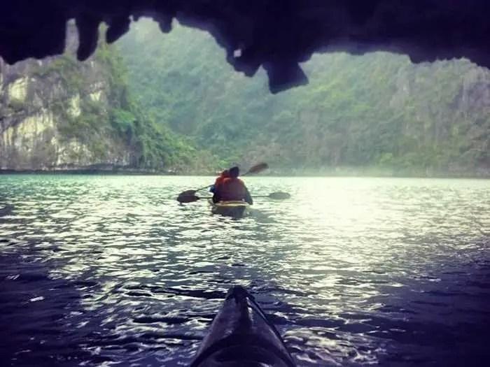 vietnam kayaking cave