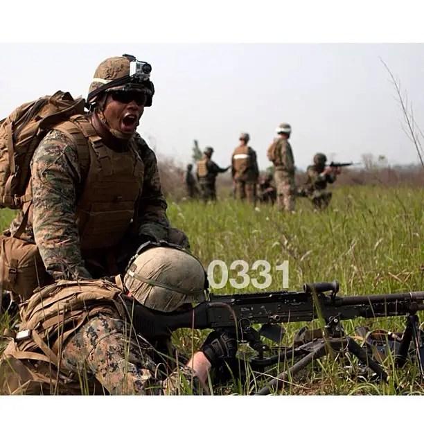 0331 is the designation for Marine Corps machine gunners.