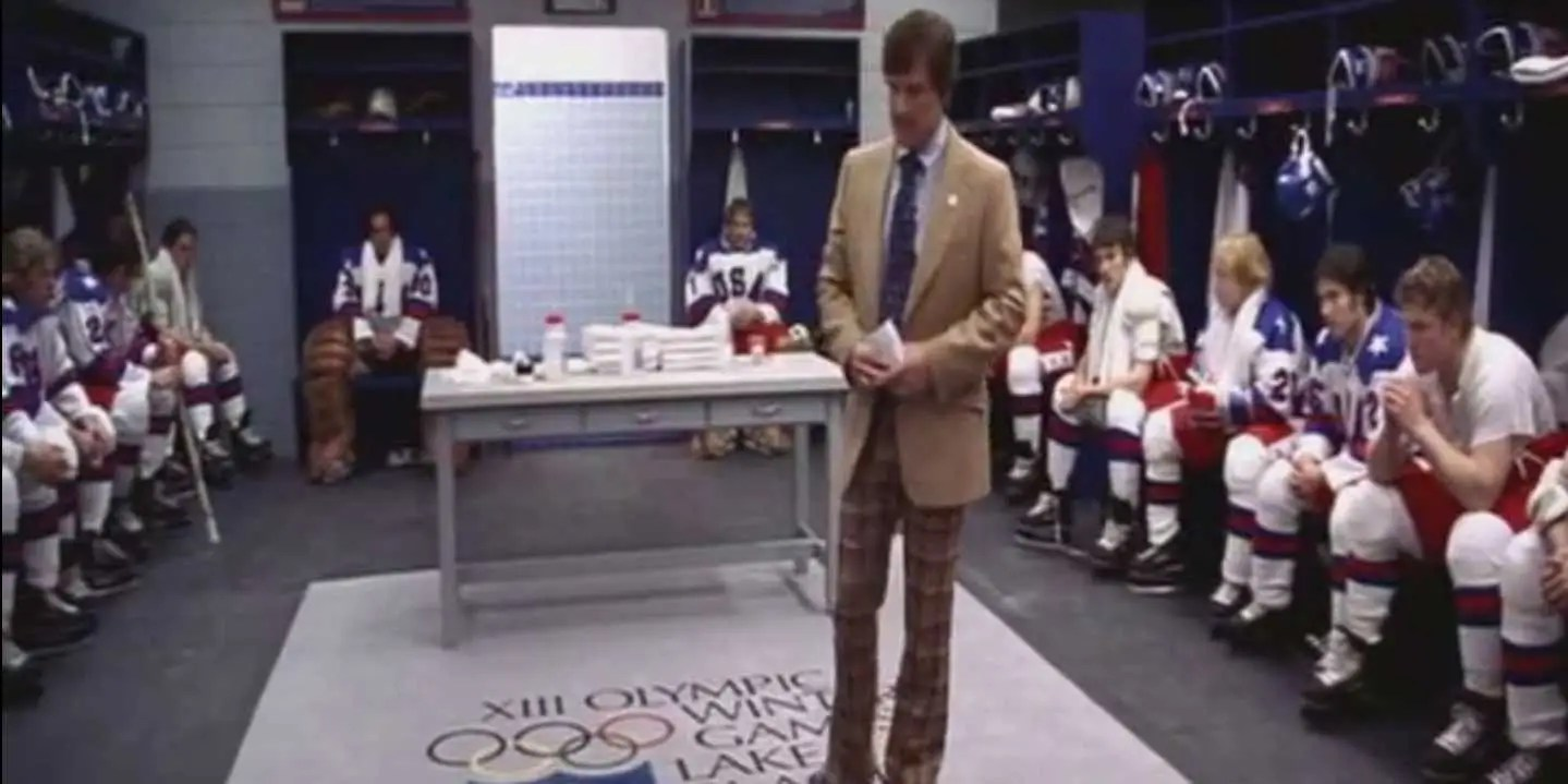 """Miracle"" (2004): The 1980 United States Ice Hockey team and their coach (Kurt Russell) unite a nation under an impossible dream: to shred the Soviets at the Olympic Games."