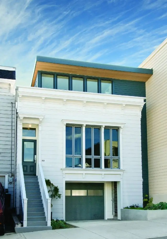 The Noe Valley home has a restored Victorian facade from the 1880s.