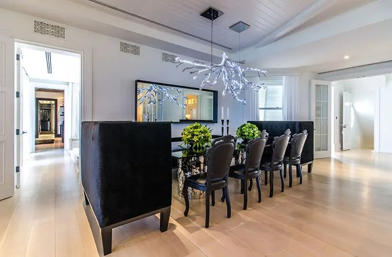 The dining room alone can easily fit a party of eight.