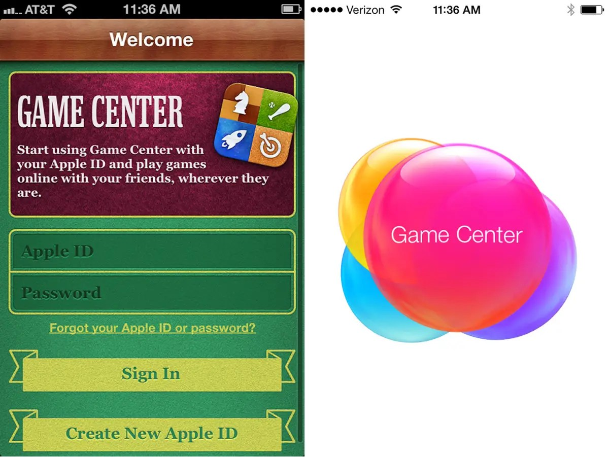 iOS6 vs. iOS7 Game Center