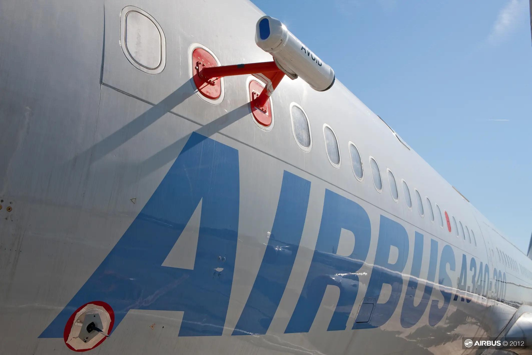 Airbus a340 detección de cenizas