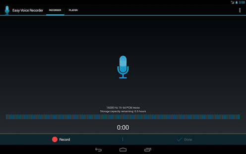 Easy Voice Recorder to turn your phone into a recorder