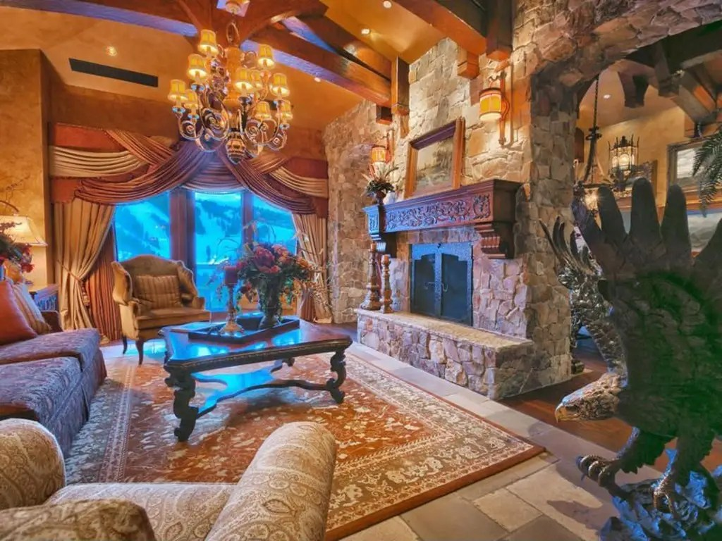 The condo has several fireplaces.