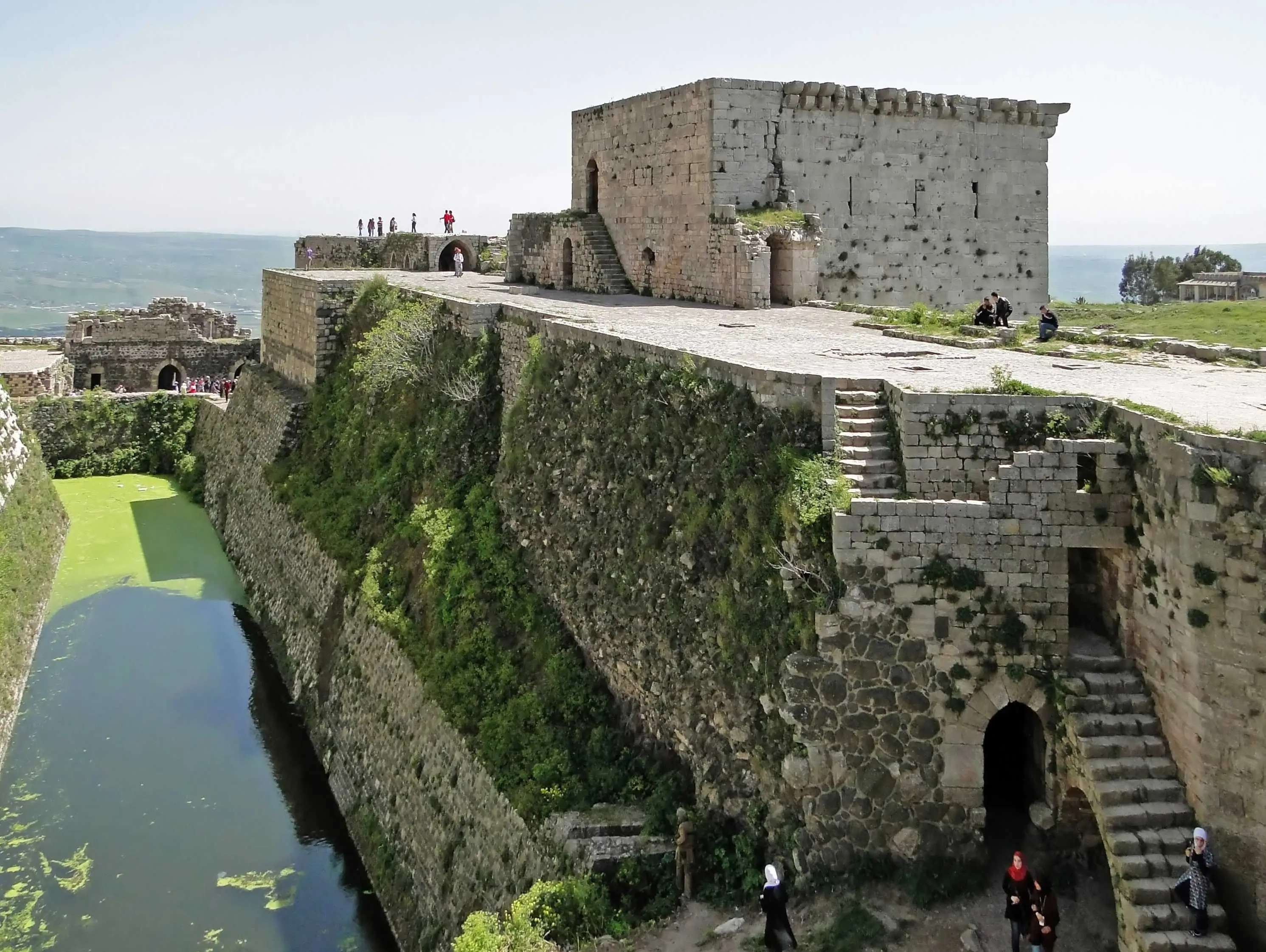 Tour Krak de Chevaliers, a medieval castle in Syria.