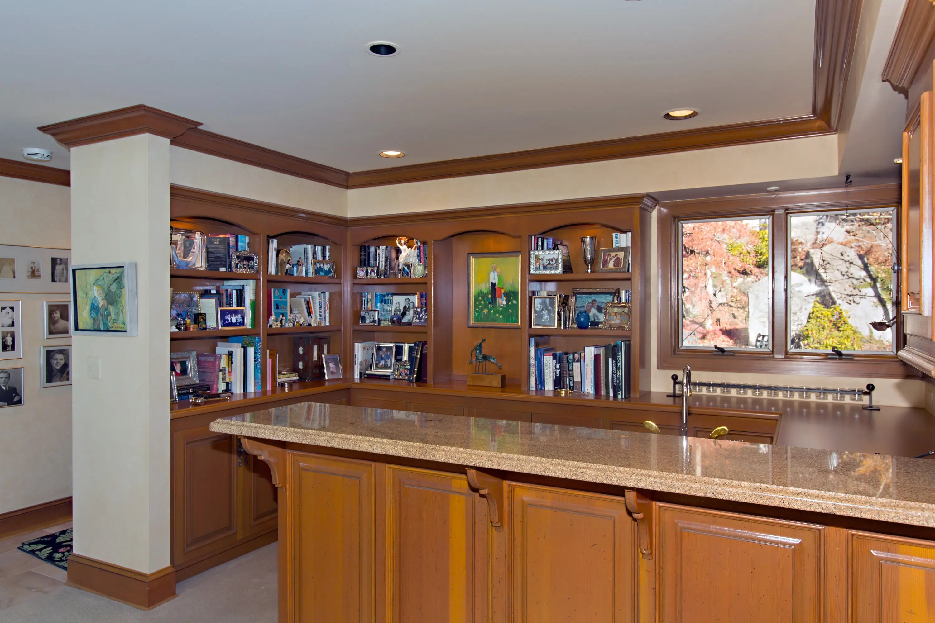 The house includes a wet bar in the basement.