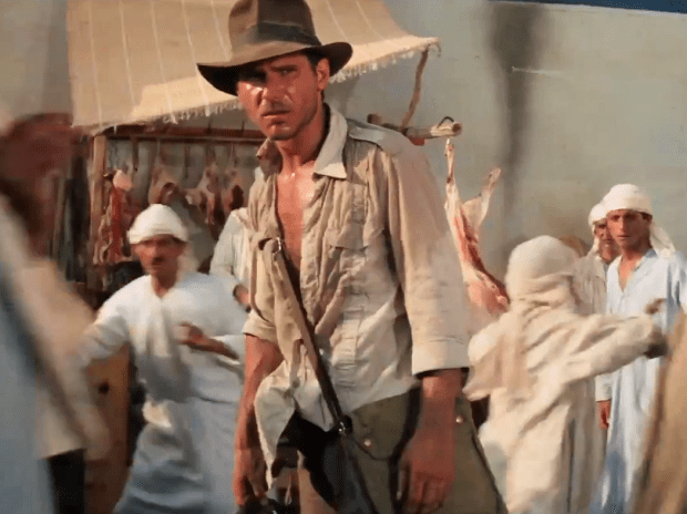 Indiana Jones, sword fight