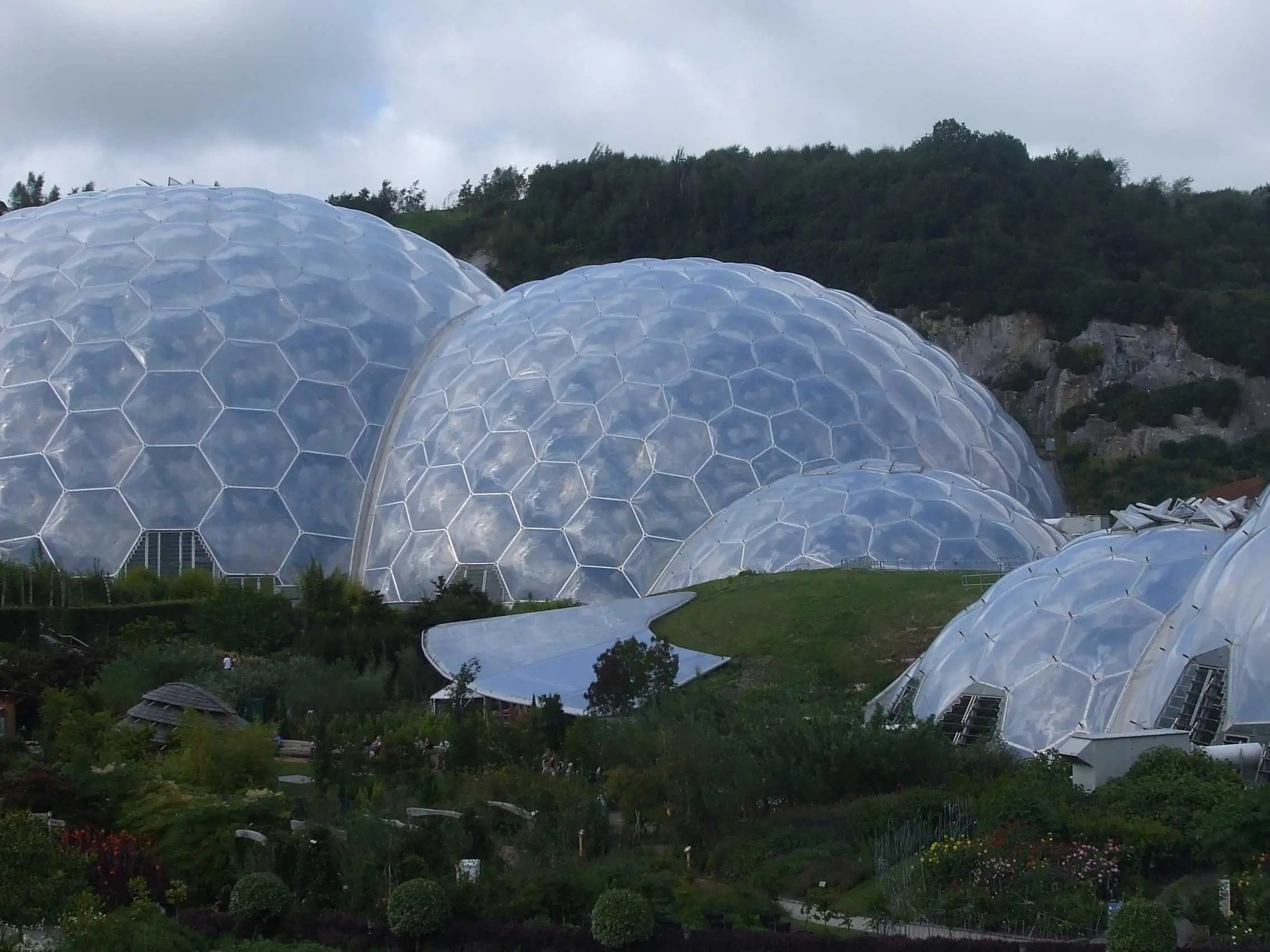Explore the Eden Project, a pair of giant biomes that hold thousands of plant species from around the world in Cornwall, England.