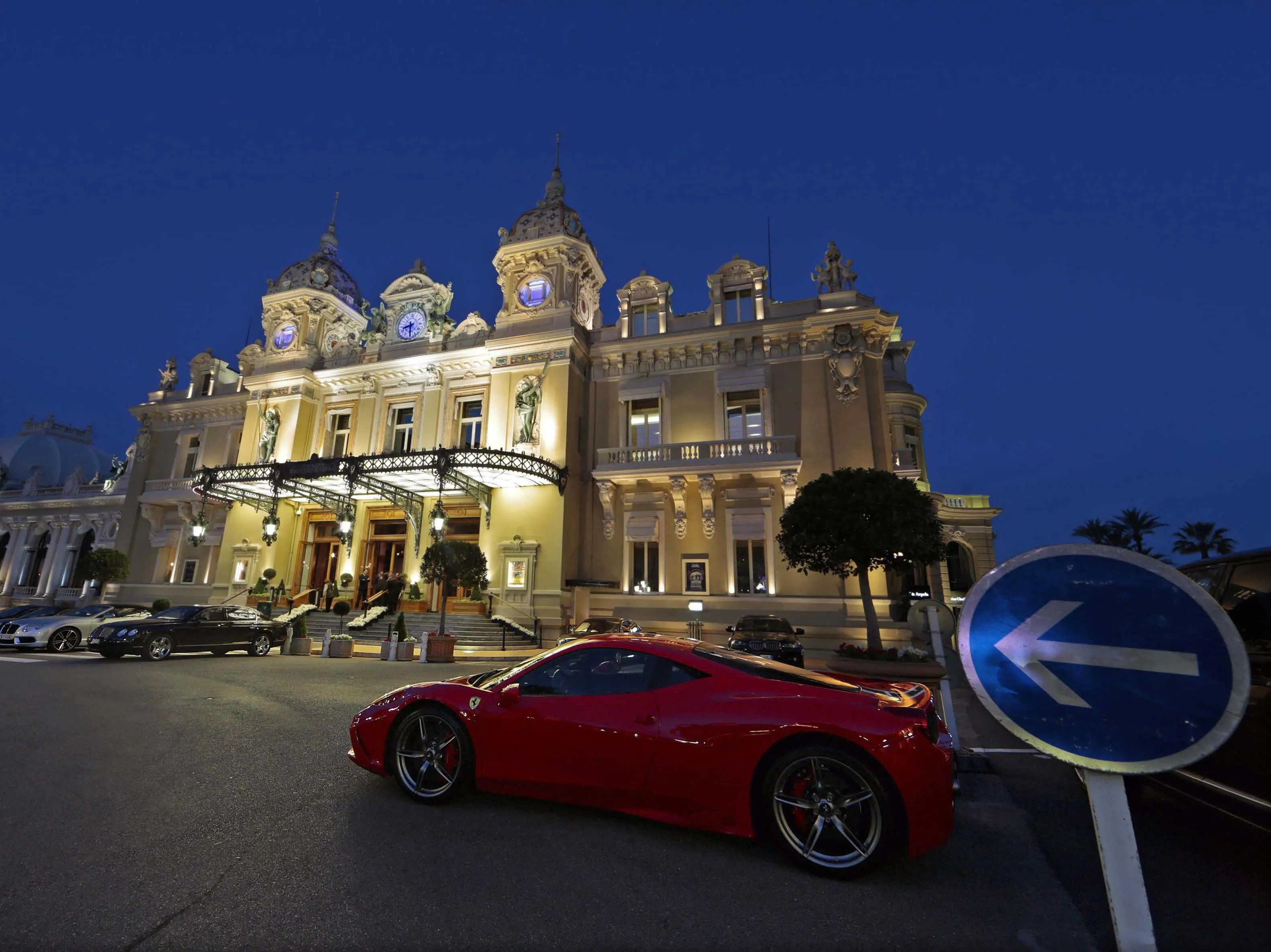 Play a hand of blackjack at the Casino de Monaco in Monte Carlo.