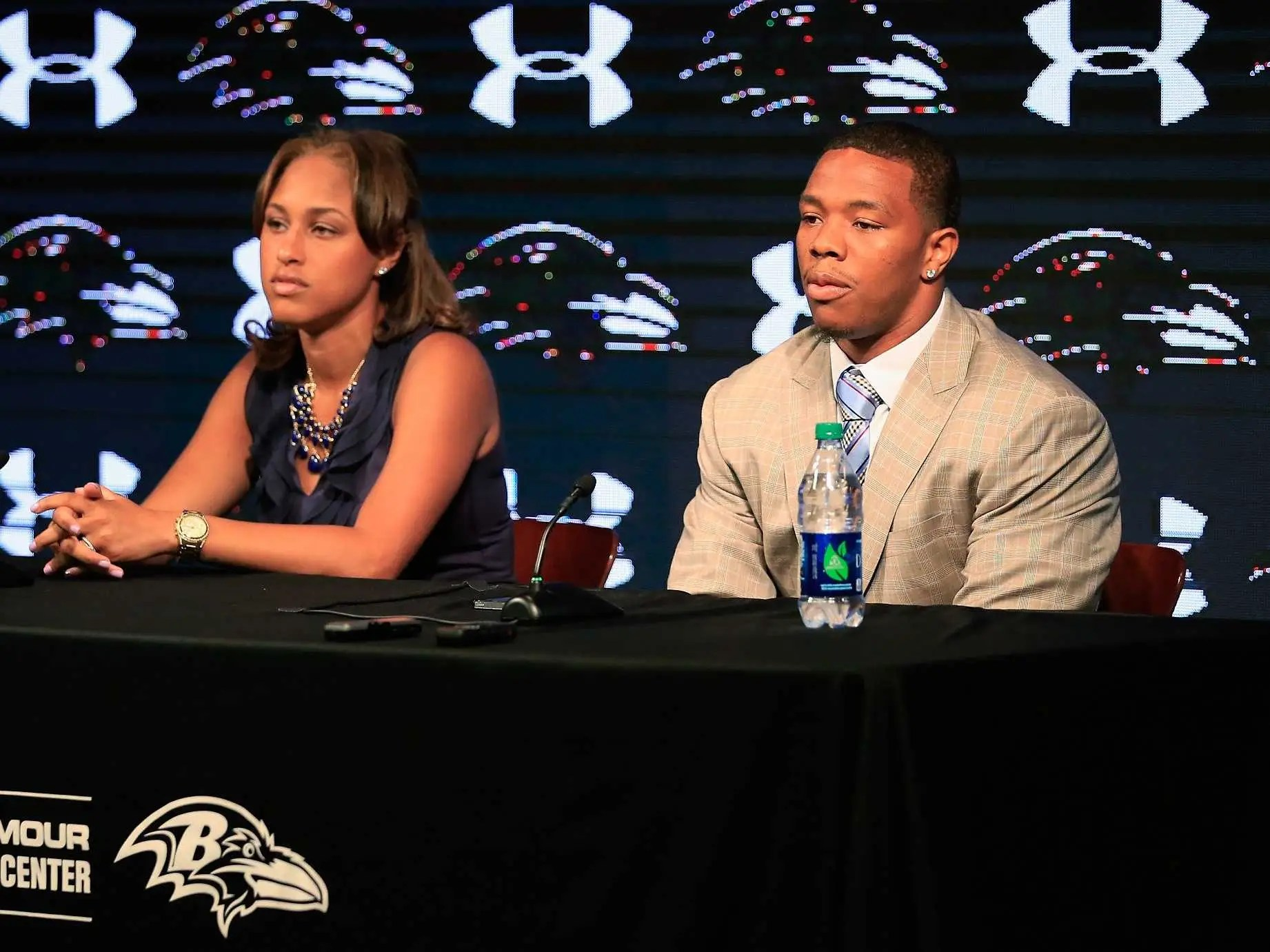 Ray Rice and his wife