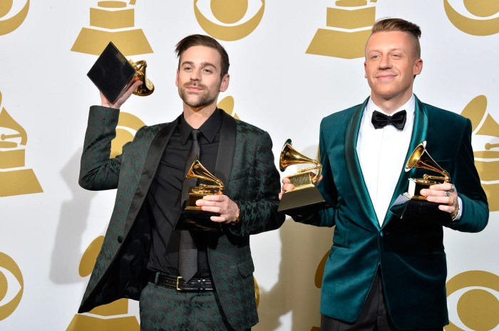 Last but not least, rapper/producer duo Macklemore and Ryan Lewis snap up spot No. 20. The two made $5.5 million over the past year.