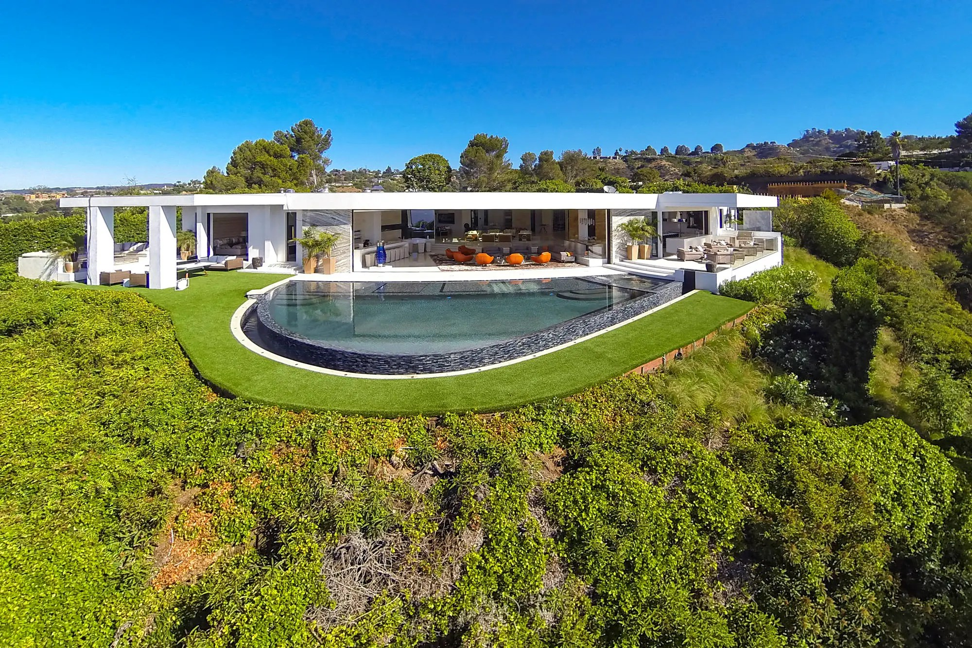 Welcome to 1181 North Hillcrest. The home was listed in September for $85 million.