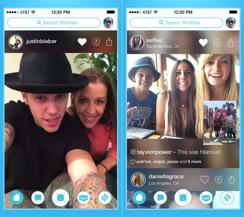 Shots is a photo sharing and social networking app endorsed by Justin Bieber.