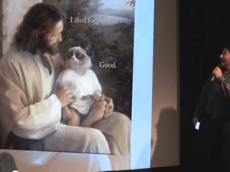 Grumpy Cat and Jesus