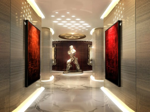 With solid marble floors, the hallways are as grandiose as those of a five-star hotel.