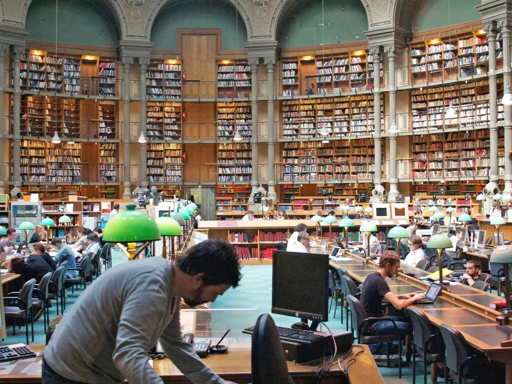 Once having held the record for the largest collection of books in the world, the Bibliotheque Nationale de France has since expanded, but the original buildings from 1868 are still the most beautiful. The Salle Ovale (oval room) in the Richelieu Building is a must see.