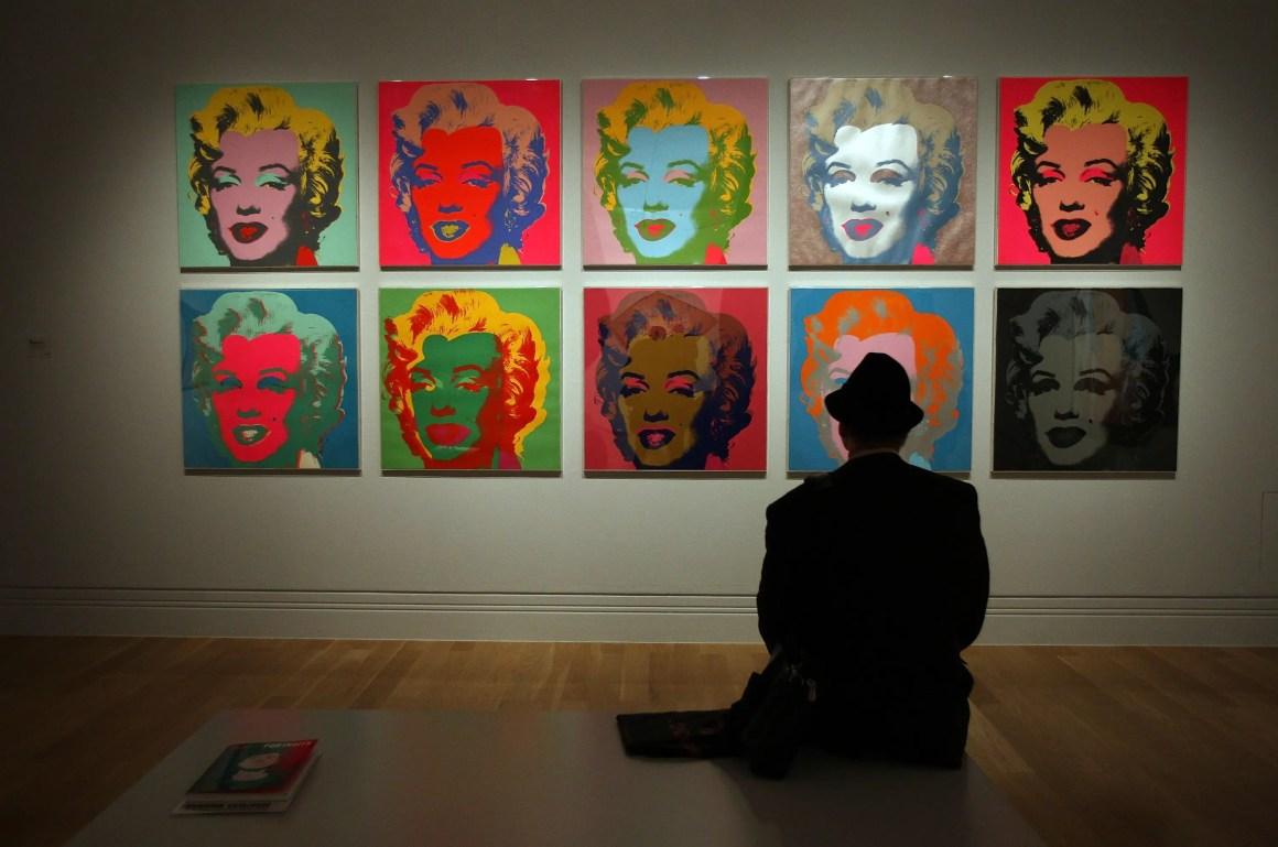 "Andy Warhol's ""Marilyn Monroe"" à la National Portrait Gallery de Londres."