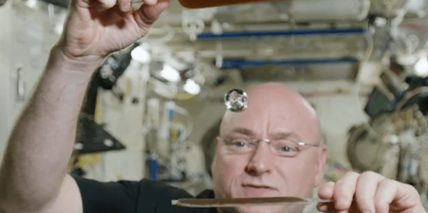 Astronaut plays ping pong in space with water - Business ...