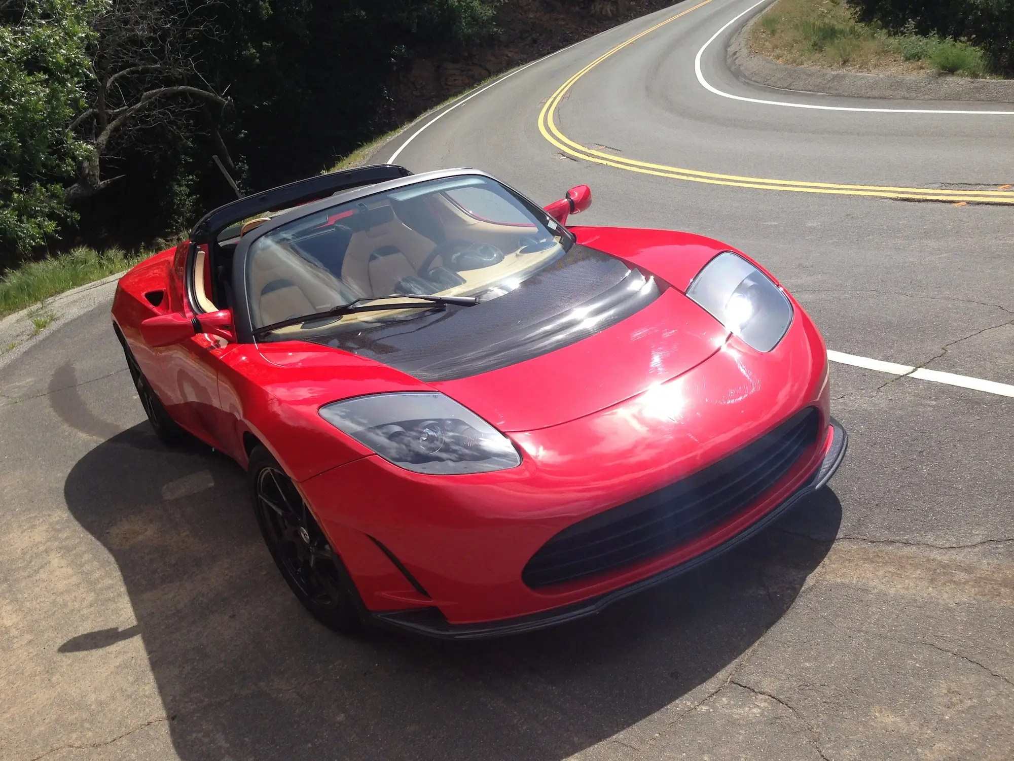 Tesla Roadster Drive 2016