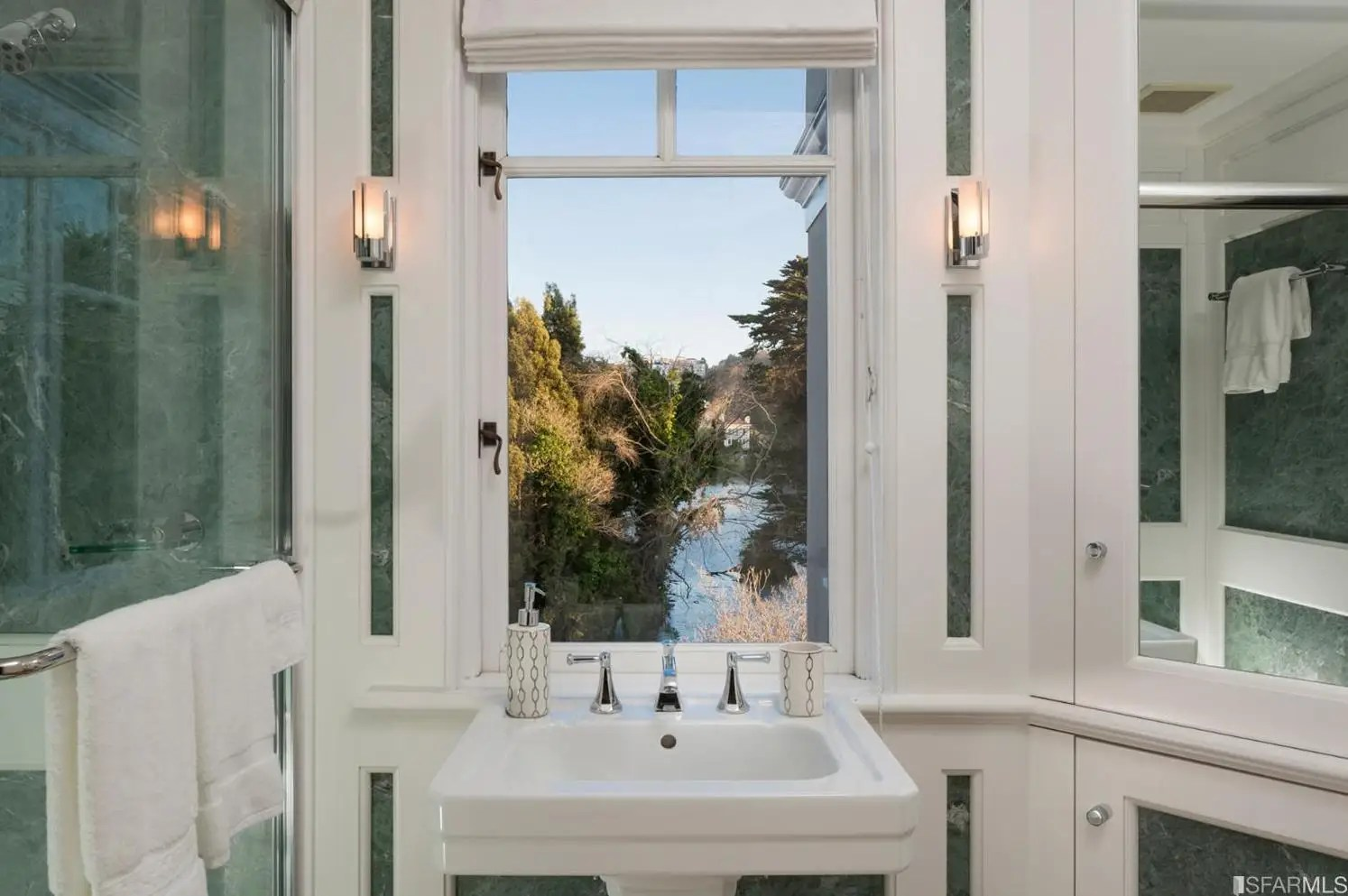 Even this bathroom has a direct view of the outdoors.