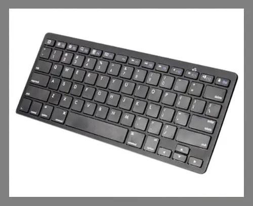 A Bluetooth keyboard