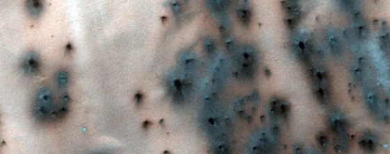 "The creation of ""fans"" around dunes may help scientists understand seasonal changes on Mars."