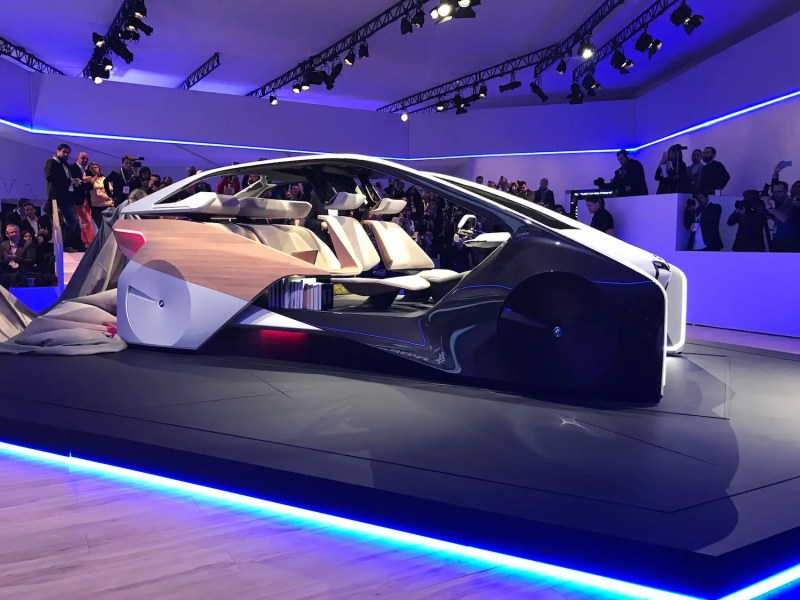 6. BMW's latest concept car is solely meant to display the automaker's vision for car interiors of the future. The idea is with fully self-driving cars, you can have spacious and homey interiors.