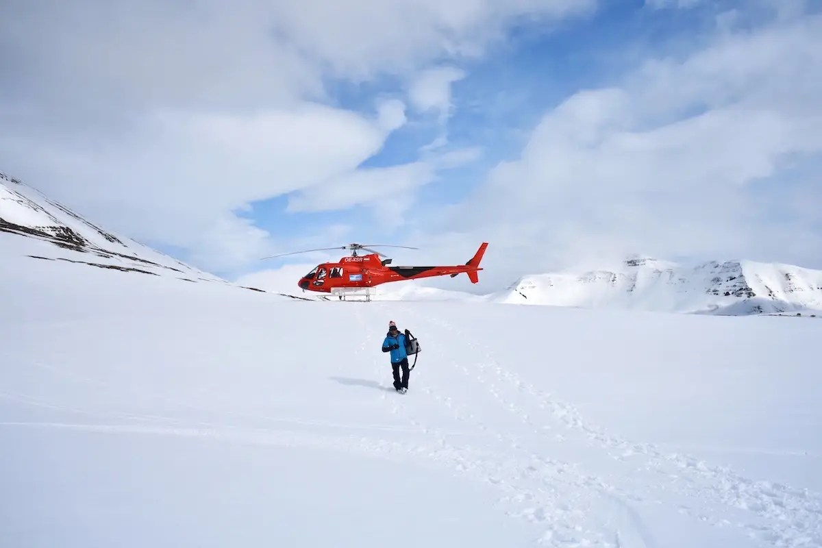 "One of the many activities that Morrow participated in was heli-skiing. ""Deplar Farm employs highly trained and certified heli-ski guides who know this region intimately and have also guided around the world,"" Morrow said."