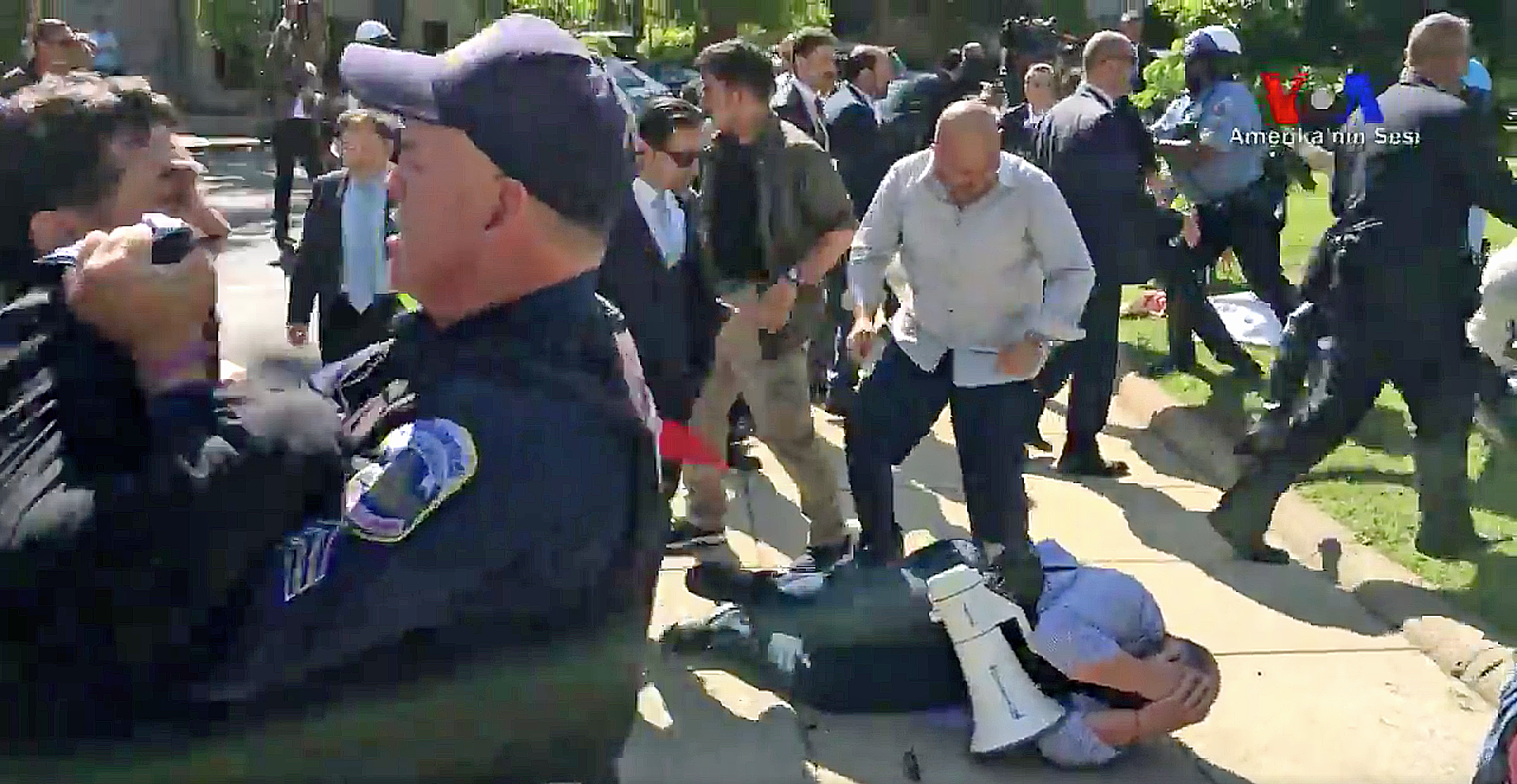 The assault of anti-Erdogan protestors by the Turkish president's bodyguards in Washington, DC