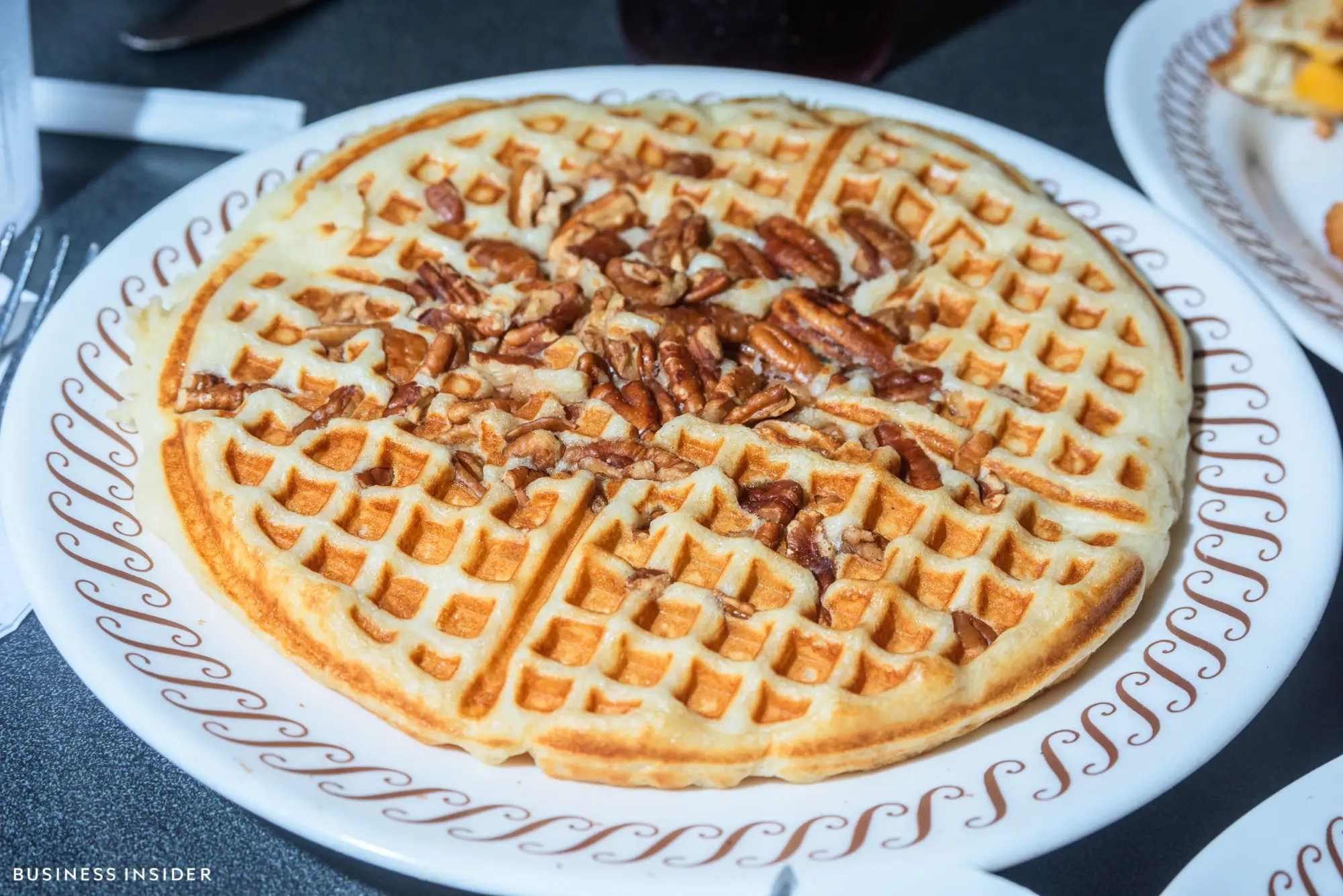 It should come as no surprise that Waffle House can serve up a mean waffle. Make no mistake, this is no Belgian waffle — it's a staunchly American take. It's soft and fluffy, but not too thick, close to a pancake in texture but still maintaining the crucial grid of the syrup-collection system.