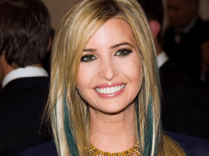 Ivanka Trump blue hair