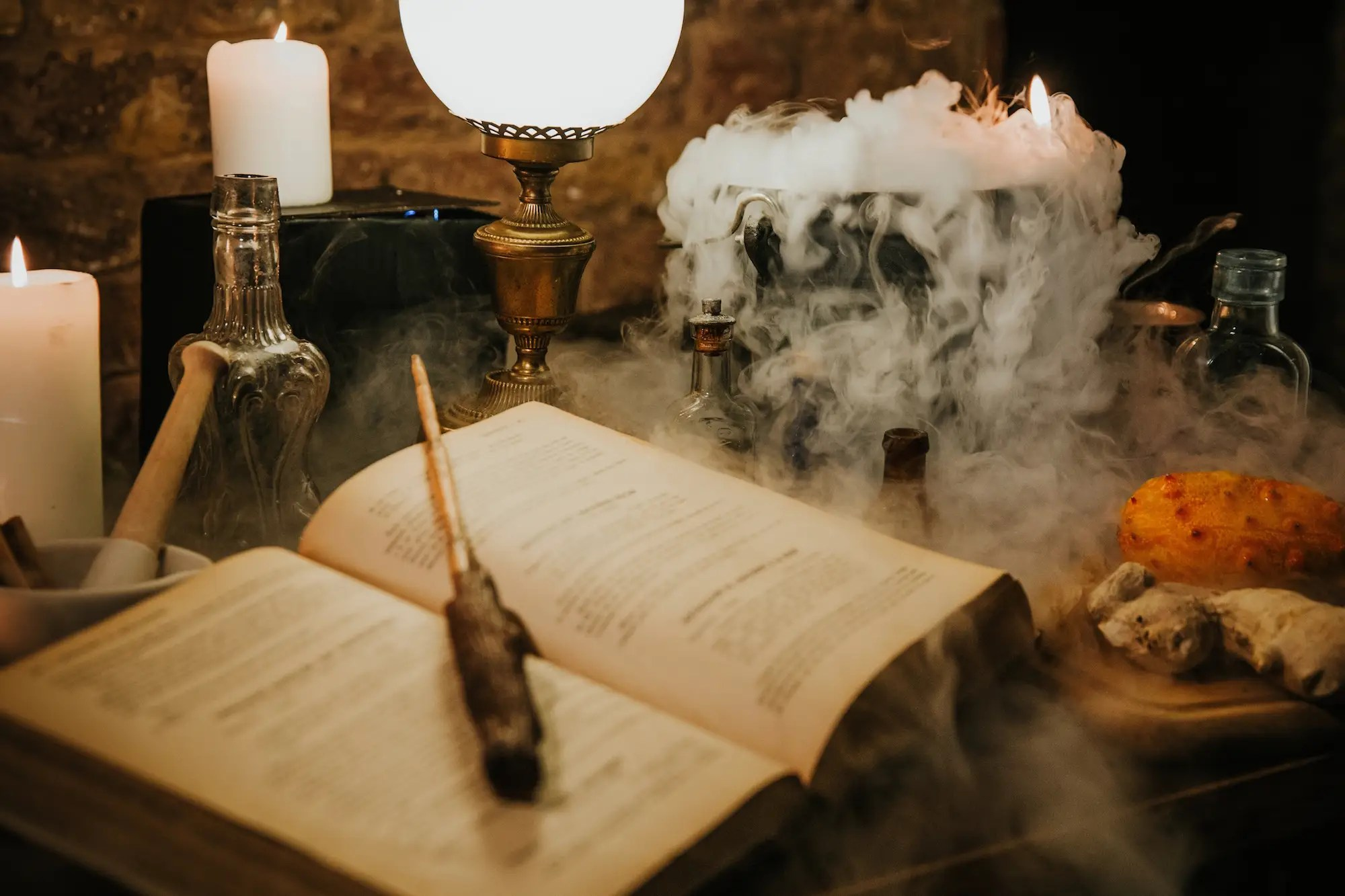 Harry Potter Inspired Potions Class With Wands And Alcohol