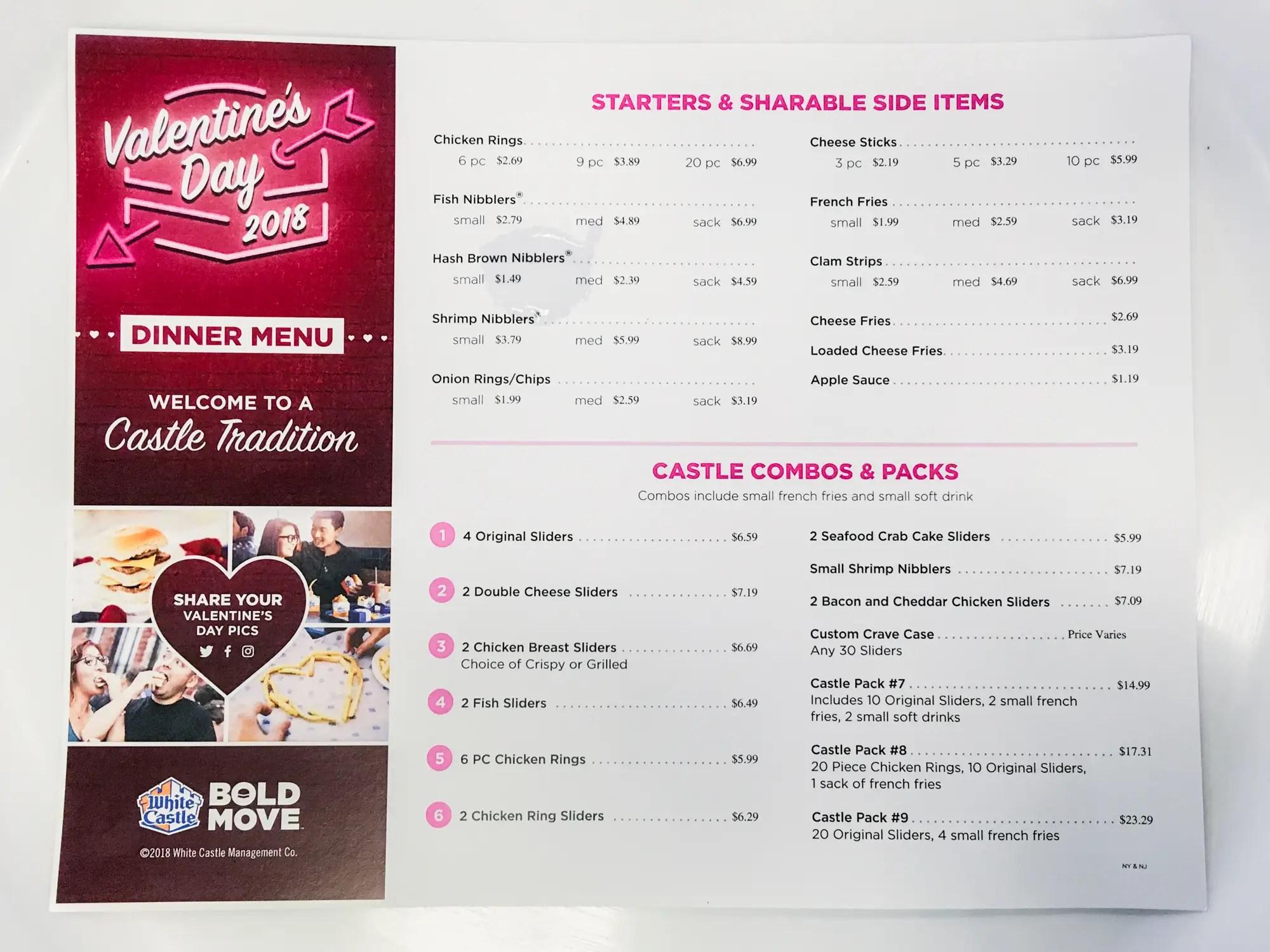 White Castle Valentines Day Dinner Business Insider