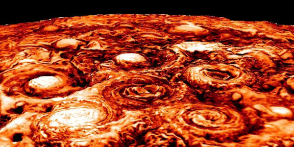 NASA Jupiter probe photos reveal clusters of cyclones ...