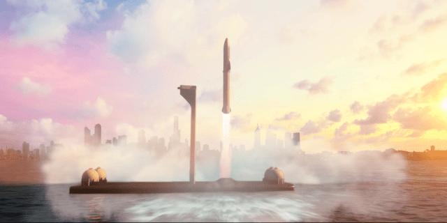 elon musk mars bfr rocket spaceship launch earth launch transportation system youtube