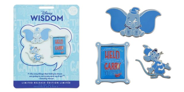 dumbo pins disney wisdom collection