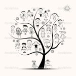 Picture Drawing Of A Family Tree Family Tree Relatives Sketch Stock Vector C Kudryashka 5553596