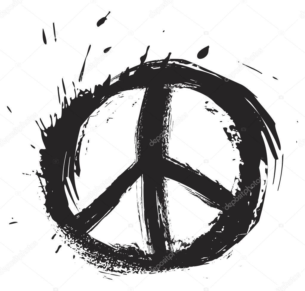 Peace Symbol Stock Vector C Oxygen64 6100292
