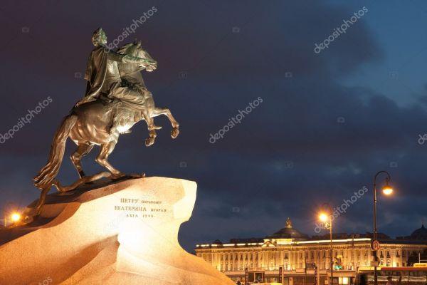 Памятник Петра первого - Санкт-Петербург — Стоковое фото ...