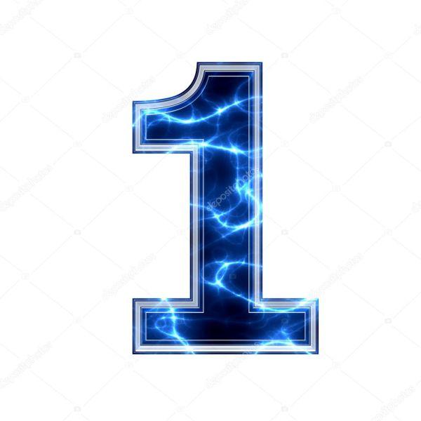 3д цифра 1. Электрические 3d цифра - 1 — Стоковое фото ...