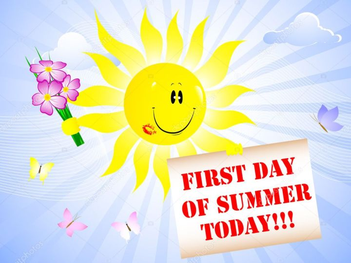 First Day Of Summer Stock Illustration. .First Day Of ...