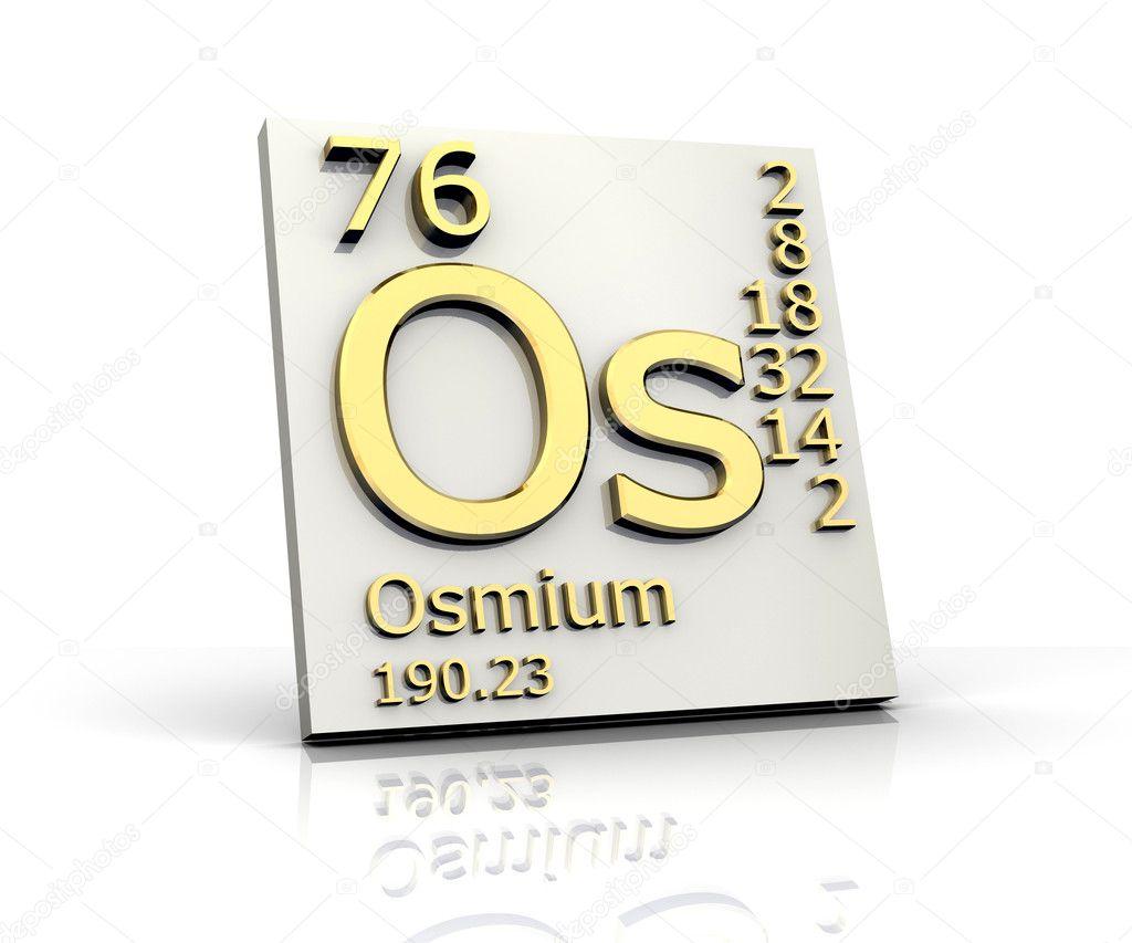 Osmium Form Periodic Table Of Elements