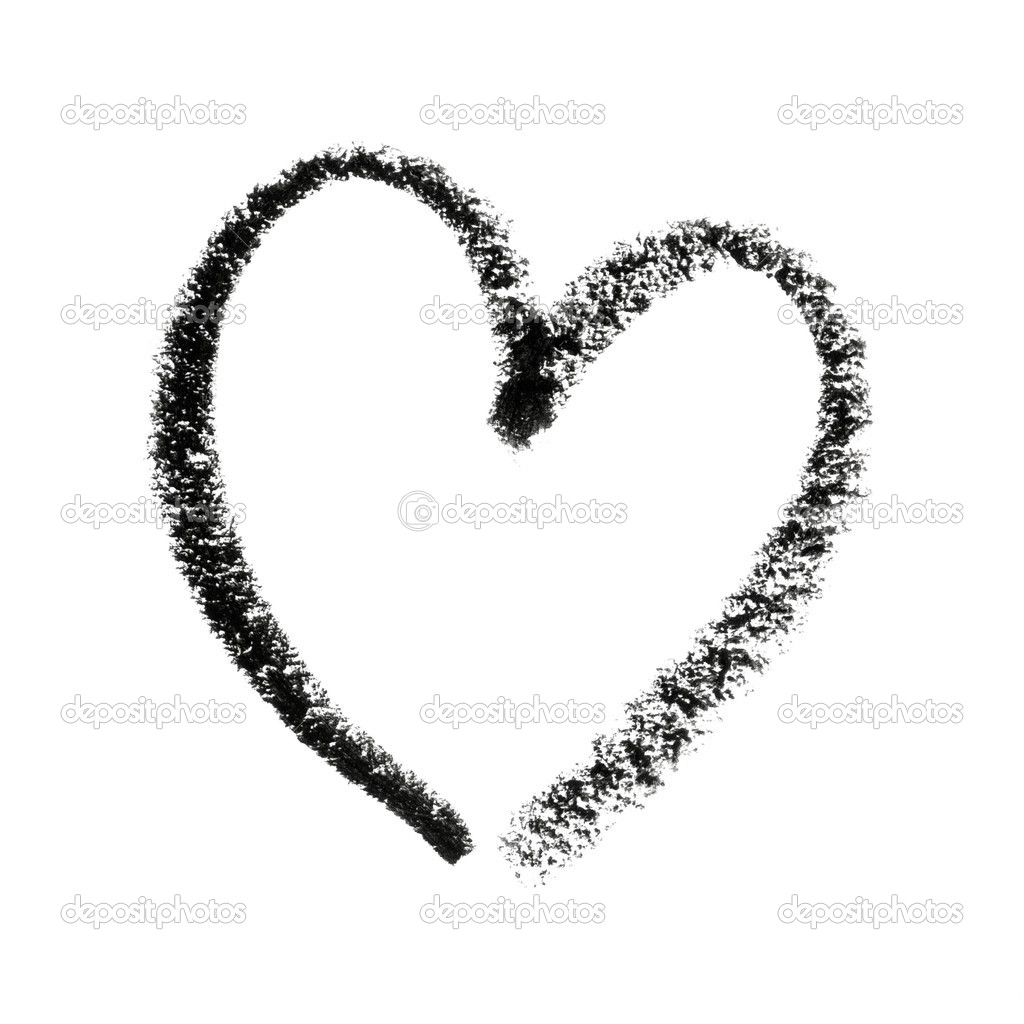 Painted Heart Symbol Outline