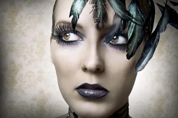 Открыт вампир рот женщина крупным планом — Стоковое фото ...