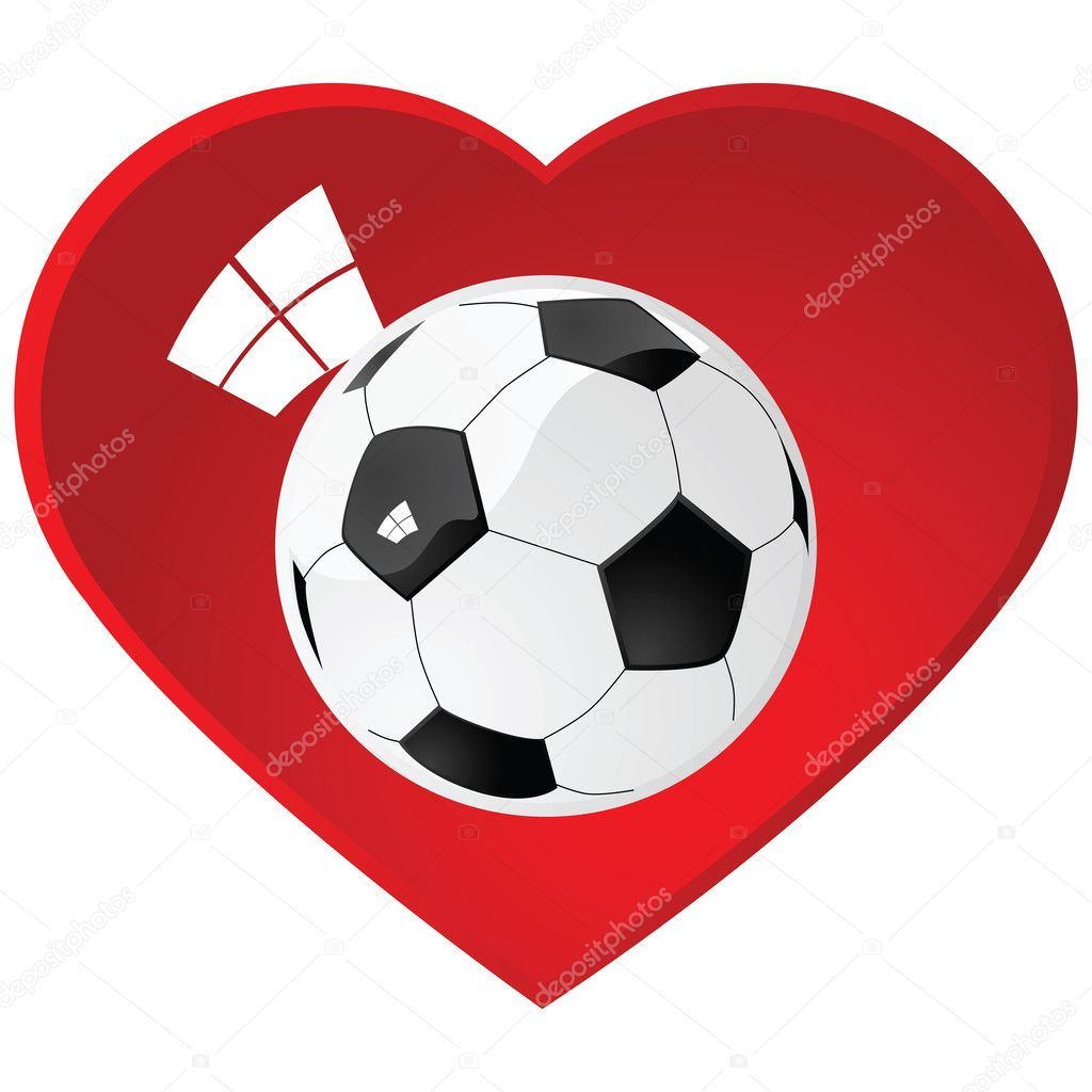 Download I love soccer — Stock Vector © bruno1998 #5647892