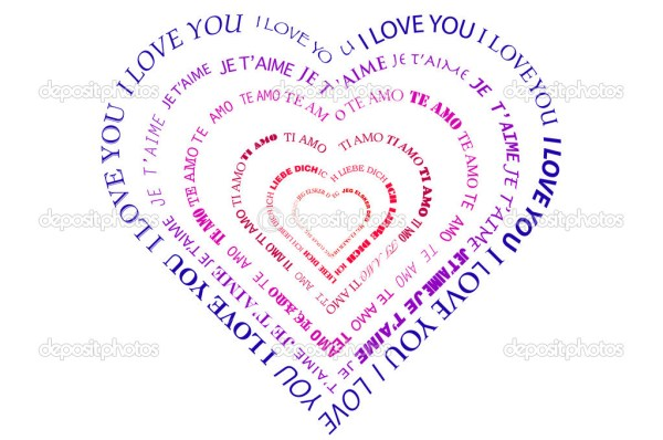 A heart made of words I love you — Stock Photo © sam741002 ...