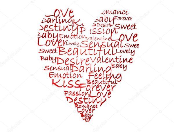Heart made of words — Stock Photo © circotasu #5493106