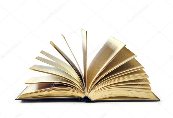 Libro abierto aislado sobre fondo blanco — Foto de stock ...
